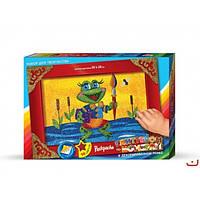 Набор для творчества Раскраска ГЛИТТЕРОМ по номерам Danko Toys Блестящие шедевры