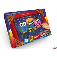 Набор для творчества Раскраска ГЛИТТЕРОМ по номерам Danko Toys