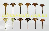 Фольгированный слайдер дизайн №31 -золото, фото 1