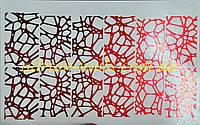 Фольгированный слайдер дизайн №35 - красный, фото 1