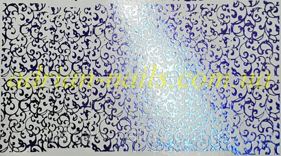 Фольгированный слайдер дизайн №38 -синий
