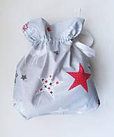 Новогодний Рождественский мешочек маленький 31*25 для подарков,подарочная упаковка ,новогодняя