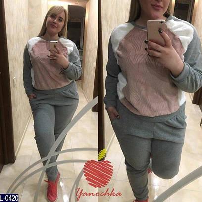 Теплый женский спортивный костюм батал с начесом  продажа, цена в ... 2c12947dd6b