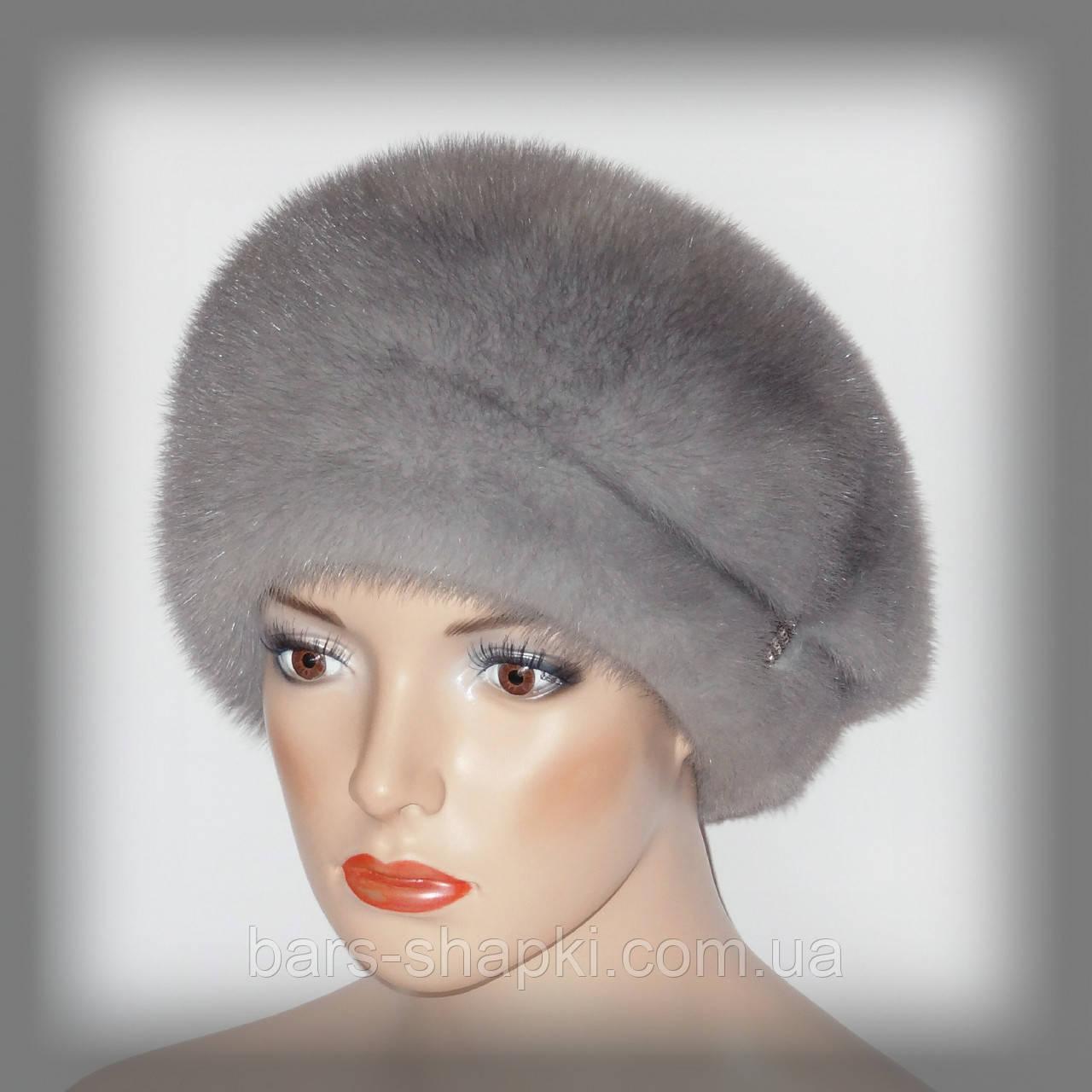 Женские меховые шапки из норки