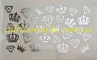Фольгированный слайдер дизайн №45-серебро, фото 1