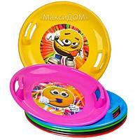 Пластиковый круг тарелка «Snow plate», фото 1