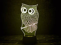 "Сменная пластина для 3D ламп ""Сова"" 3DTOYSLAMP, фото 1"