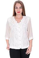 Блуза Кристел белого цвета