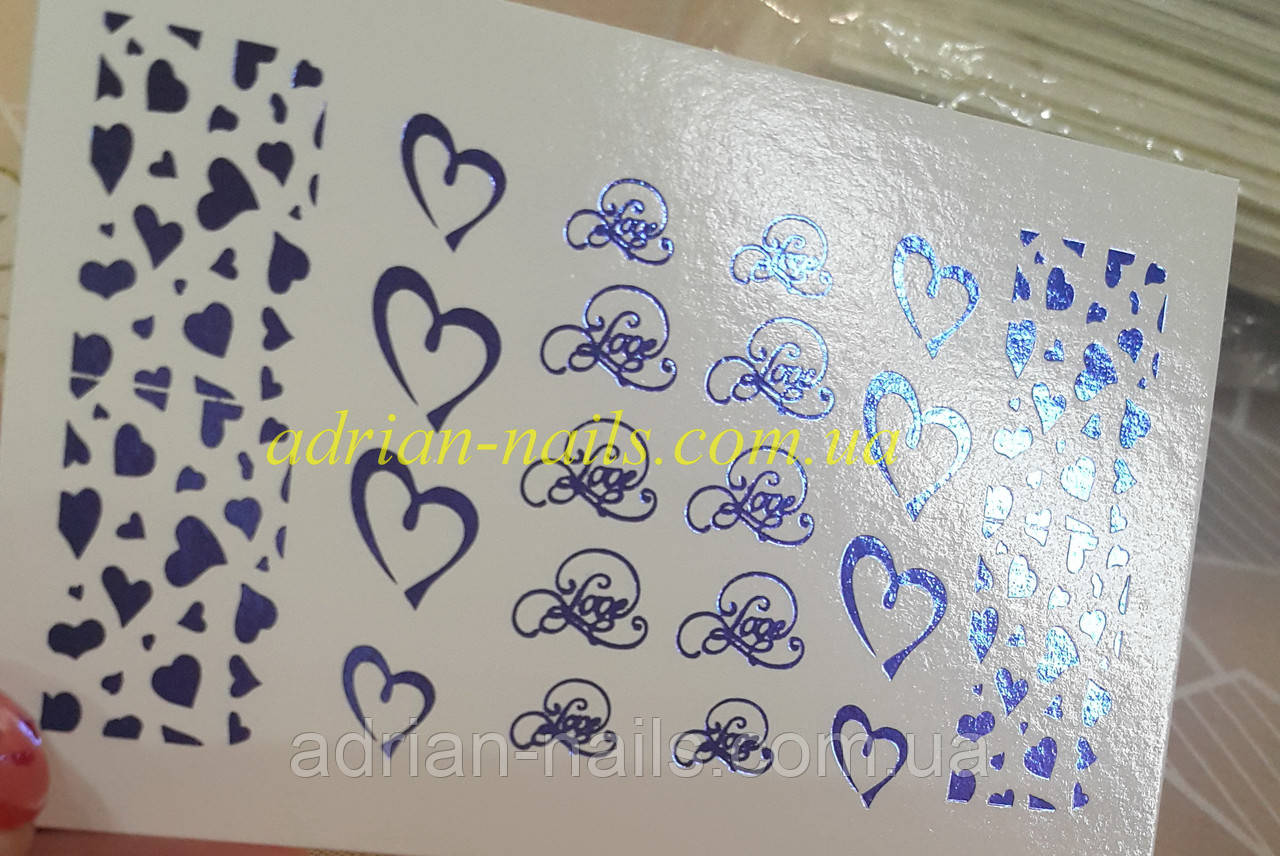 Фольгированный слайдер дизайн №63-синий
