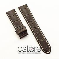 Кожаный ремешок для часов Vacheron Constantin brown white 21 мм (07529)