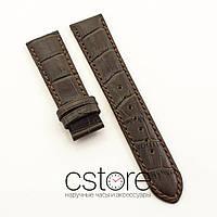 Кожаный ремешок для часов Vacheron Constantin brown white 21 мм (07530)