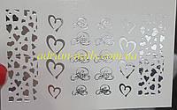 Фольгированный слайдер дизайн №65-серебро, фото 1