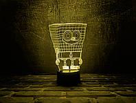 """Сменная пластина для 3D светильников """"Спанч Боб"""" 3DTOYSLAMP, фото 1"""