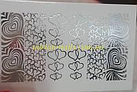 Фольгированный слайдер дизайн №70-серебро, фото 1