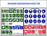 Знаки безопасности-2. 0,6х0,5