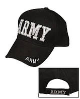 """Бейсболка с рисунком """"ARMY"""", Чёрный (Black)"""