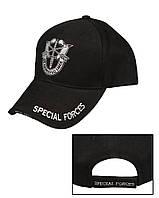 """Бейсболка с рисунком """"Special Forces"""", Чёрный (Black)"""