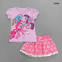 Летний костюм My Little Pony для девочки. 68, 74 см, фото 1