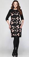 Платье Matini-31021 белорусский трикотаж, черные тона, 52