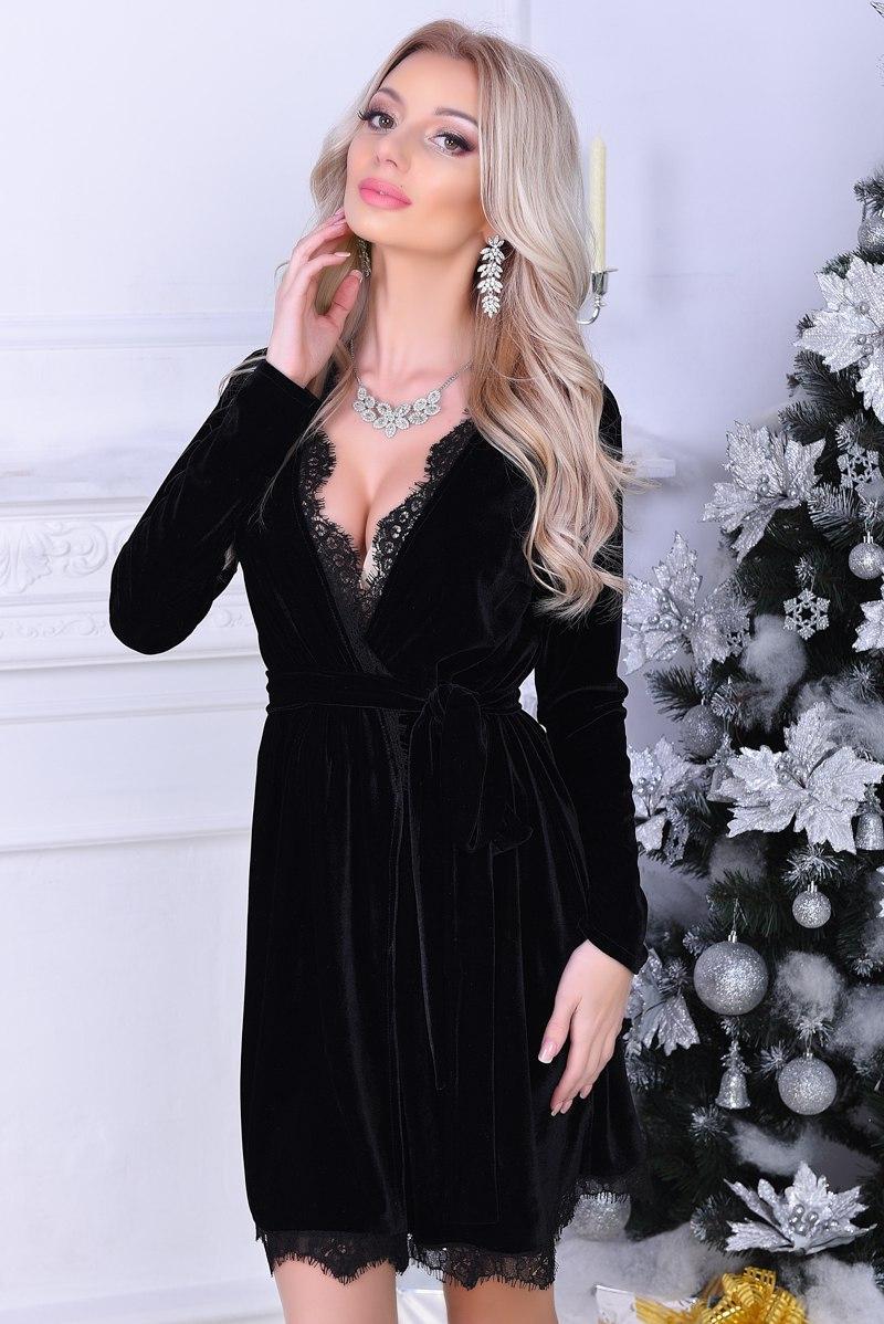 6d2b92a05f9 Бархатное платье халат. Чёрный