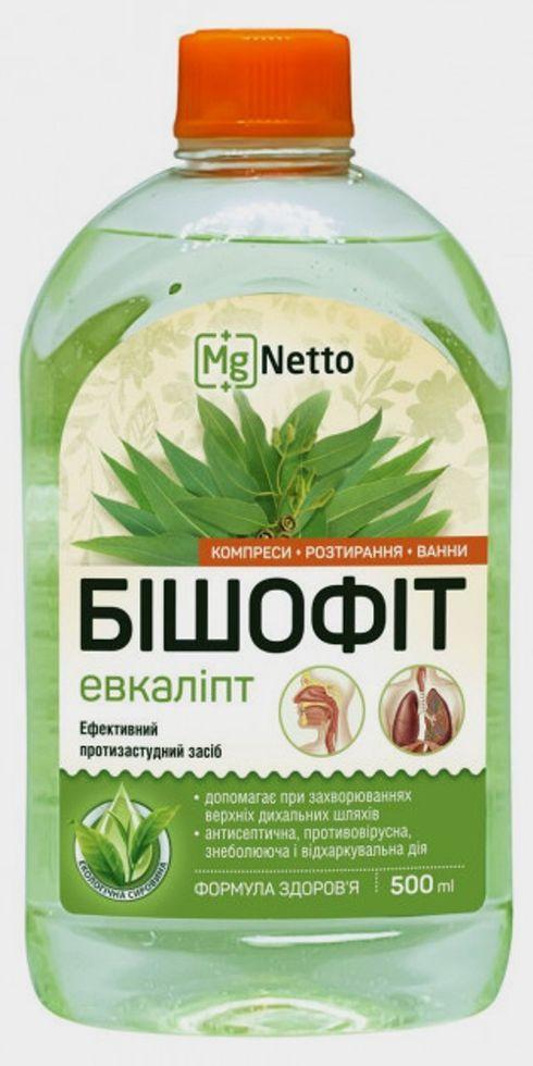 """Засіб для тіла протизастудний """"Евкаліпт"""" БІШОФІТ MgNetto 500мл"""