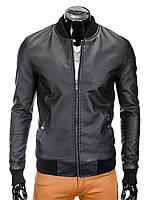Мужская кожаная Куртка K333 M, Черный