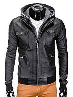 Мужская кожаная Куртка K335 M, Черный