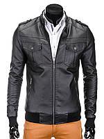 Мужская кожаная Куртка K334 M, Черный