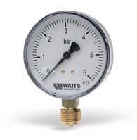 Манометр вертикальный (радиальный) Watts F+R200 (Ø63mm 0-6Bar)