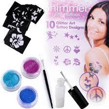 Набор для тату Shimmer Glitter Tattoos - временное тату