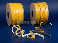 Уплотнительный шнур стекловолокно на клейкой основе Europolit TSP 15x2 мм (чёрный), 50 метров