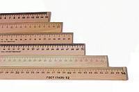 """Линейка деревянная 25 см. """"Люкс-Колор"""" (шелкография)"""