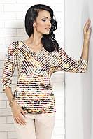 Женская кофточка с абстрактным рисунком. Модель Krista Top-Bis.
