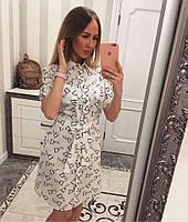 """Женское модное хлопковое платье-рубашка """"Dior"""" (2 цвета)"""