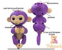 Интерактивная обезьянка, 12 см. FINGERLINGS MONKEY 801 FNG