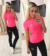 Женский модный спортивный костюм-тройка: футболка, майка и брюки (4 цвета)