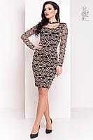 Облегающее платье Кружева-3 из трикотажного гипюра, фото 1