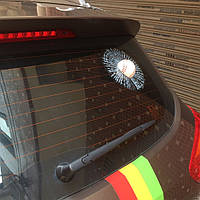 Наклейка на авто 3D мяч