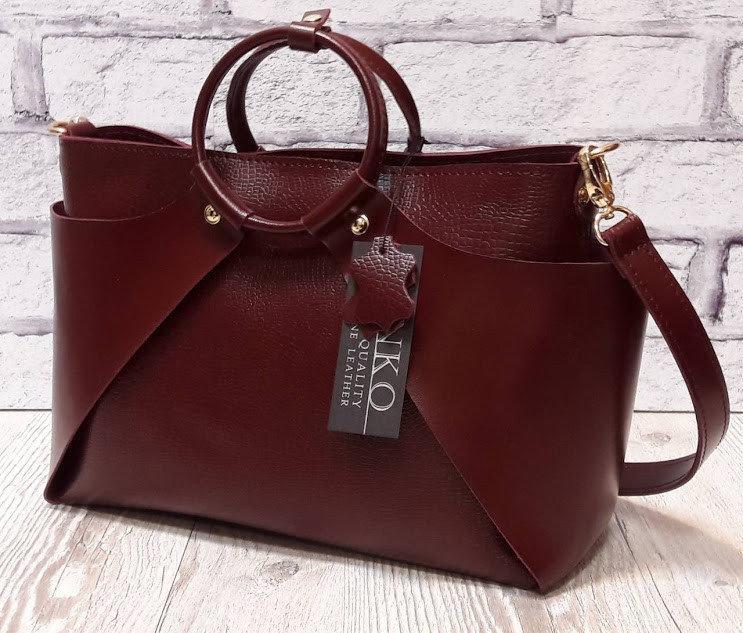 a1482af3621e Оригинальная сумка из натуральной кожи марсала 1685 - Интернет-магазин
