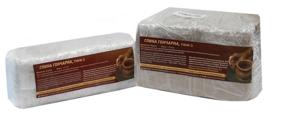 Глина гончарная, полуфарфоровые изделия, 2 кг, ПФФ-3, Rosa, 285518