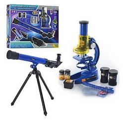 Детский микроскоп + телескоп CQ-031 с аксессуарами Royaltoys