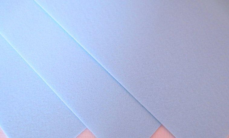 Фетр корейский жесткий 1.2 мм, 20 на 30 см Светло-голубой