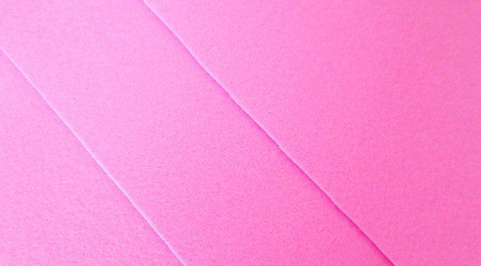 Фетр корейский жесткий 1.2 мм, 20 на 30 см Розовый