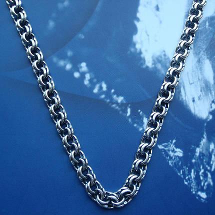 Серебряная цепочка, 600мм, 42 грамма, плетение Бисмарк, фото 2