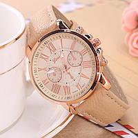 """Hаручные женские часы """"GENEVA Style"""" ярко-кремовые"""