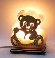 Соляная лампа Мишка с сердцем