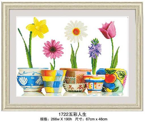 """Набор для рисования камнями """"Прекрасные весенние цветы"""", фото 2"""