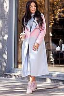 Женское модное двухцветное пальто на сатиновой подкладке (3 цвета)
