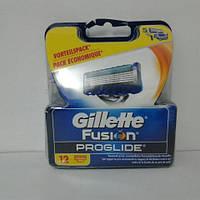 Кассеты для бритья мужские Gillette Fusion Proglide 12 шт. ( Картриджи Жиллет Фьюжин Проглайд Оригинал) , фото 1