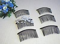 Гребень металлический на 20 зубчиков  7,5 на 3,7 см Цвет черный Цена 6 грн.